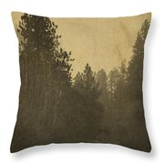 Rails In The Rogue Valley - Vintage Effect Throw Pillow