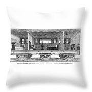 Railway Carriage, 1864 Throw Pillow