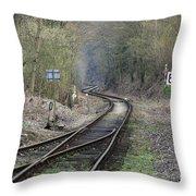 Railway Line Throw Pillow