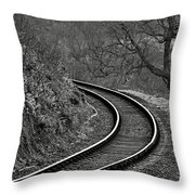 Railway Line Throw Pillow