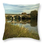 Railway Viaduct At Waterside - Stapenhill Throw Pillow