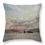 Rain Approaching The Golden Horn Throw Pillow