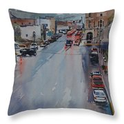 Rain At Rush Hour Fairfield Il Throw Pillow