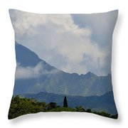 Rain Clouds Over The Makalehas Throw Pillow