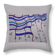 Rain Doodles Throw Pillow