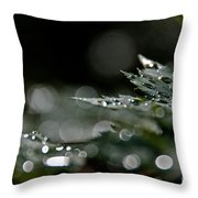 Rain Drop Bokeh Throw Pillow