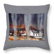 Rain Fall On Dooagh Achil Throw Pillow