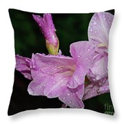 Rain Flower 1 Lavender Throw Pillow