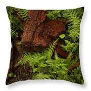 Rain Forest Abstract Throw Pillow