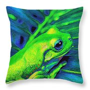 Rain Forest Tree Frog Throw Pillow