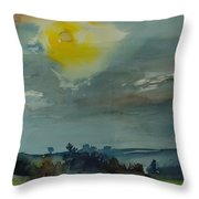 Rain In The Air, 1981 Wc On Paper Throw Pillow