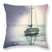 Rain Is Here Throw Pillow