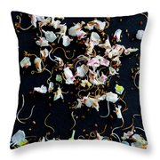 Rain Of Petals Throw Pillow