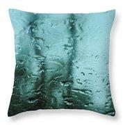 Rain On Bare Trees Throw Pillow