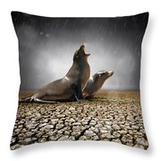 Rain Relief Throw Pillow