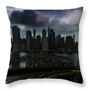 Rain Showers Likely Over Downtown Manhattan Throw Pillow