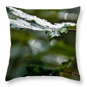 Rain Sparkles Throw Pillow