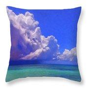 Rain Squall On The Horizon Throw Pillow