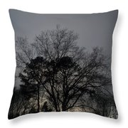 Rain Storm Clouds And Trees Throw Pillow