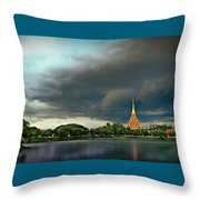 Rain Storm Lake View Throw Pillow