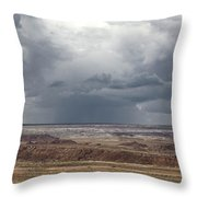 Approaching Storm The Painted Desert Arizona Throw Pillow