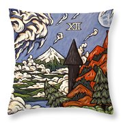 Stormy Noon Throw Pillow