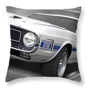 Rain Won't Spoil My Fun - 1969 Shelby Gt500 Mustang Throw Pillow