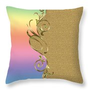 Rainbow And Gold Throw Pillow