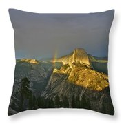 Rainbow And Half Dome 3 Throw Pillow