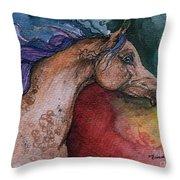 Rainbow Arabian Throw Pillow