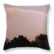 Rainbow Arch Display Throw Pillow