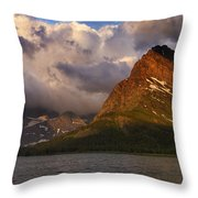 Rainbow At Sunrise - Panorama Throw Pillow