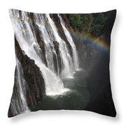 Rainbow At Victoria Falls Throw Pillow