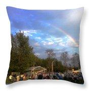 Rainbow At Wind Gap Park Throw Pillow