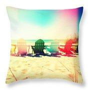 Rainbow Beach I Throw Pillow