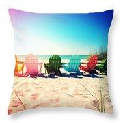 Rainbow Beach Photography Light Leaks1 Throw Pillow