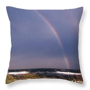 Rainbow Beach Throw Pillow