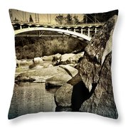 Rainbow Bridge In Folsom Ca Throw Pillow