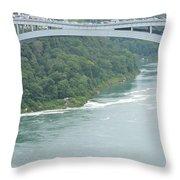Rainbow Bridge Over Niagara Throw Pillow