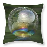 Sun Halo Rainbow Bubble Throw Pillow