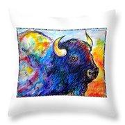 Rainbow Buffalo Throw Pillow