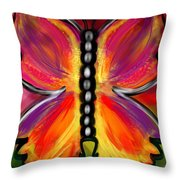 Rainbow Butterfly Throw Pillow