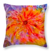 Rainbow Coronal Throw Pillow