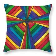 Rainbow Cross Throw Pillow