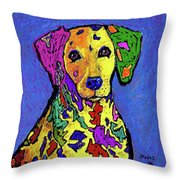 Rainbow Dalmatian Throw Pillow