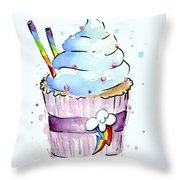 Rainbow-dash-themed Cupcake Throw Pillow