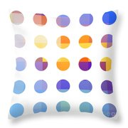 Rainbow Dots  Throw Pillow