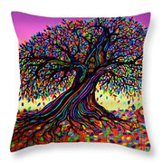 Rainbow Dreams And Falling Leaves Throw Pillow