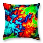Rainbow Dye Throw Pillow