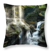Rainbow Falls Square Throw Pillow